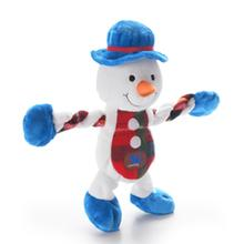 Christmas Snowman Pulleez Dog Toy