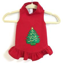 Christmas Tree Dog Dress by Daisy and Lucy - Red