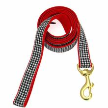 Classic Black Houndstooth Dog Leash by Up Country