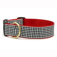 Classic Black Houndstooth Wide Dog Collar from Up Country