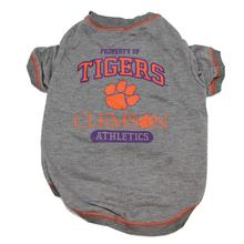 Clemson Tigers Athletics Dog T-Shirt - Gray