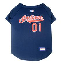 Cleveland Indians Officially Licensed Dog Jersey - Navy Blue
