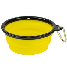 Collapsible Silicone Dog Bowl by Body Glove - Yellow