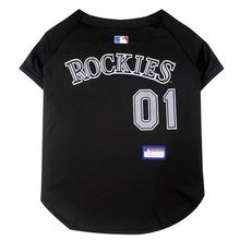 Colorado Rockies Officially Licensed Dog Jersey - Black