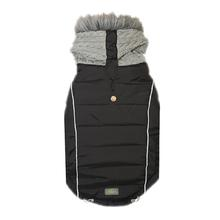 Combo Knit Dog Jacket - Black