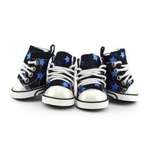 Converse Dog Shoes by Parisian Pet - Denim Stars