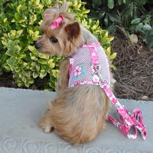 Cool Mesh Dog Harness - Hawaiian Hibiscus Pink