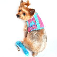 Cool Mesh Dog Harness - Flip Flop Pink and Ocean Blue
