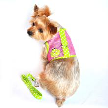 Cool Mesh Dog Harness by Doggie Design - Polka Dot Frog on Pink