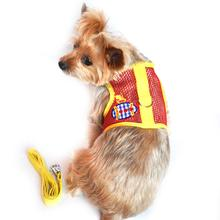 Cool Mesh Dog Harness - Submarine Red and Yellow