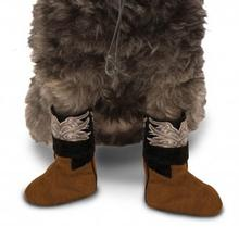 Cowboy Boot Cuff Dog Costume - Brown
