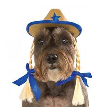 Cowgirl Hat Dog Costume with Braids