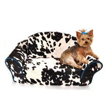 Cowprint Sleeper Sofa Dog Bed