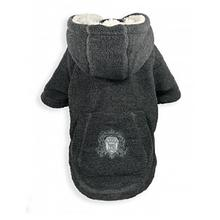 Crest Fleece Dog Hoodie by Hip Doggie - Gray