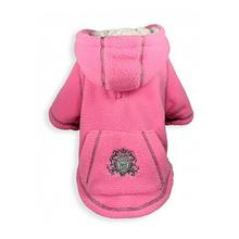 Crest Fleece Dog Hoodie by Hip Doggie - Pink