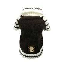Crown Dog Cardigan by Hip Doggie - Brown