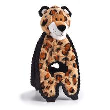 Charming Cuddle Tugs Dog Toy - Lively Leopard