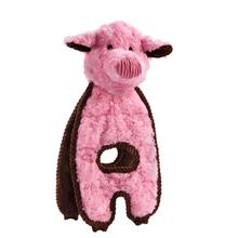 Charming Cuddle Tugs Dog Toy - Peachy Pig