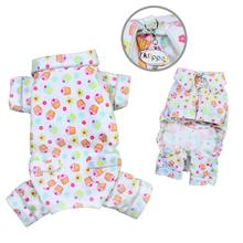 Cupcakes Fanatics Flannel Dog Pajamas by Klippo
