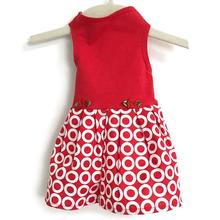 Daisy and Lucy Target Skirt Dog Dress - Red