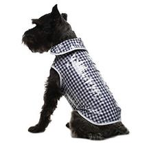 Daisy and Lucy Navy Gingham Dog Coat
