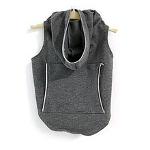 Daisy and Lucy Reflective Dog Hoodie - Dark Heather Gray