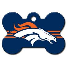 Denver Broncos Engravable Pet I.D. Tag - Bone