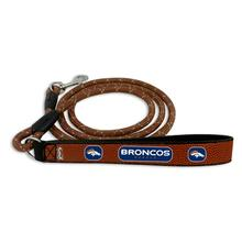 Denver Broncos Frozen Rope Leather Dog Leash