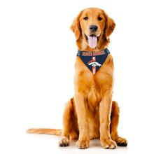 Denver Broncos Tie On Dog Bandana