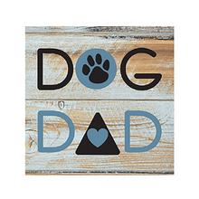 """Dog Dad"" Wood Pallet Magnet by Dog Speak"