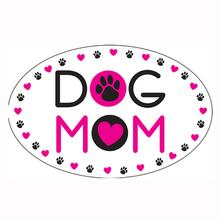 """Dog Mom"" Indoor/Outdoor Oval Magnet by Dog Speak"