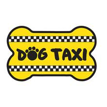 """Dog Taxi"" Bone Shaped Magnet by Dog Speak"