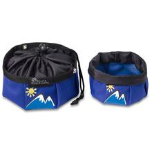 Doggles Blue with Mountains Travel Bowl