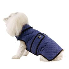 Doggy Wrappers Microfiber Quilted Dog Coat - Royal Blue