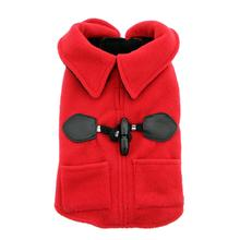 Doggy Wrappers Toggle Fleece Dog Coat - Red
