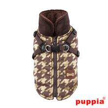 Dogstooth Fleece Dog Vest by Puppia - Brown
