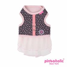 Dogwood Flirt Dog Harness Dress by Pinkaholic - Dark Gray