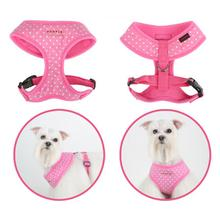 Dotty Adjustable Dog Harness by Puppia - Pink