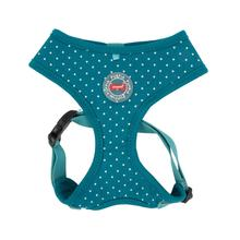 Dotty Adjustable Dog Harness by Puppia - Teal