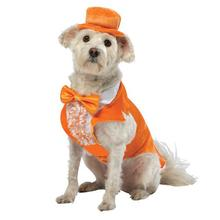 Dumb and Dumber Lloyd Tux Dog Costume - Orange
