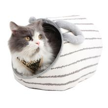 Earish Cozy Cat House by Catspia - Gray