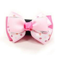 EasyBOW Cutie Dog Collar Attachment by Dogo - Pink Polka Dot