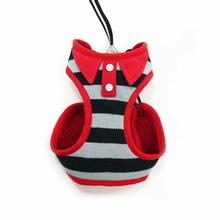 EasyGo Polo Stripe Dog Harness by Dogo - Black
