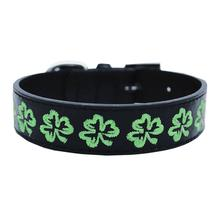 Embroidered Shamrock Dog Collar by Mirage