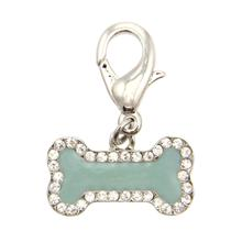 Enamel Bone D-Ring Pet Collar Charm by FouFou Dog - Mint