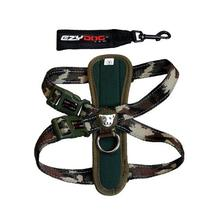 EzyDog Chest Plate Dog Harness - Green Camo