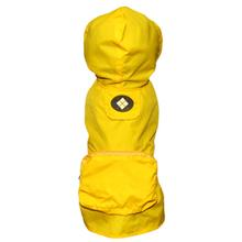 fabdog® Argyle Pocket Fold Up Dog Raincoat - Yellow
