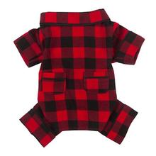 fabdog® Buffalo Plaid Flannel Dog Pajamas
