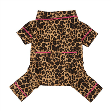 Fab Dog Leopard Flannel Dog Pajamas