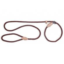 Fab Dog Mountain Rope Slip Leash - Brown